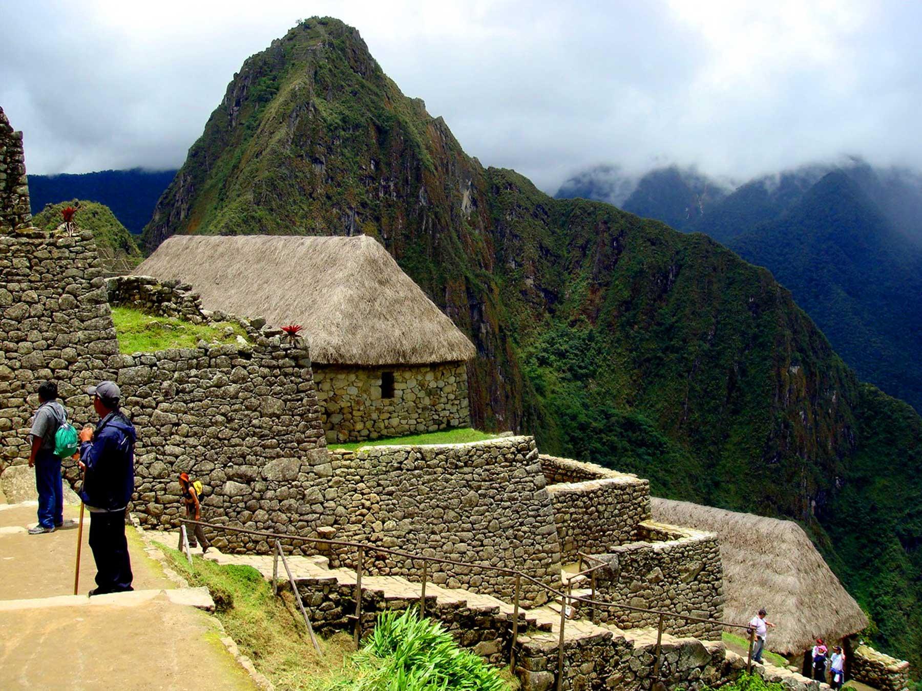 Ao entrar em Machu Picchu, observaremos esta impressionante arquibancada