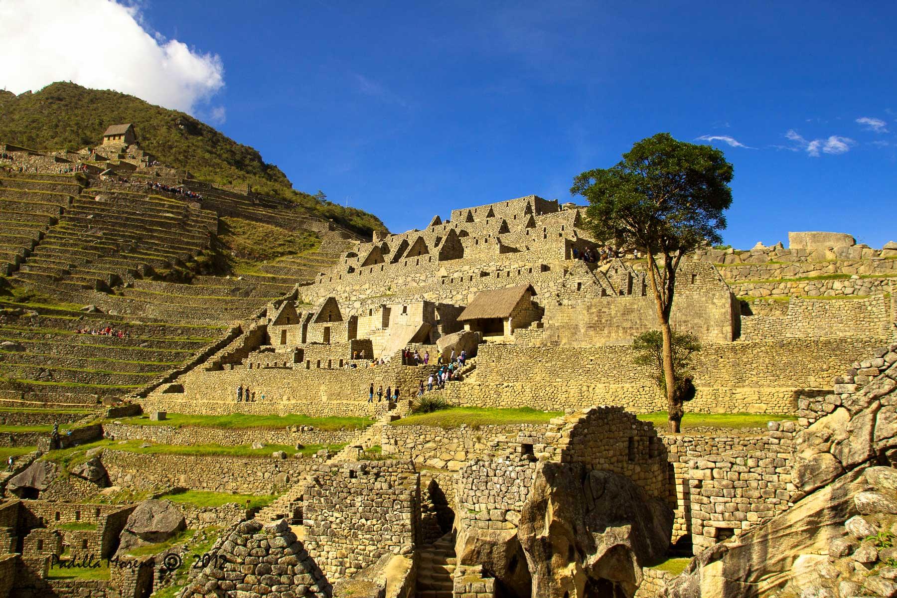 Esplanada de Machu Picchu, todas as construções podem ser apreciadas