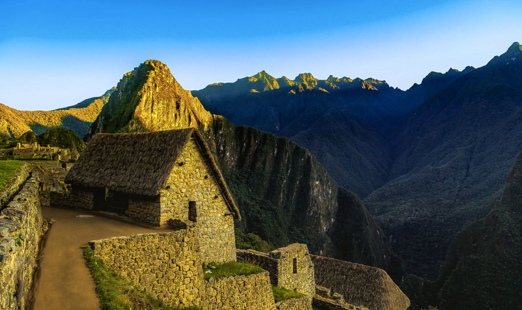 Machu Picchu ao entardecer