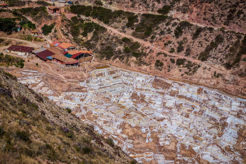 Ponto de vista das minas de sal de Maras